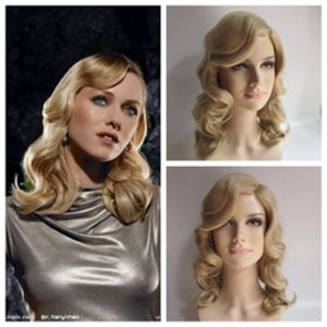 China 1920s 1930s 1940s Long Flapper Women Lady Synthetic Full Wig Hair China Wig And Synthetic Price