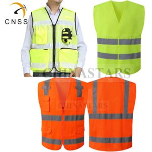 Personalised Custom Printed Hi Viz High Vis Safety Vest Waistcoat Black