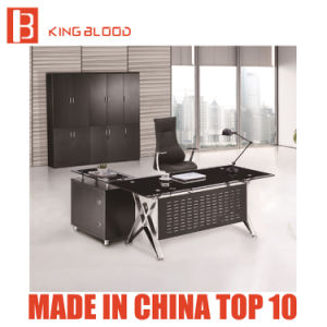 China New Design L Shape Modern Home Office Furniture Glass Office