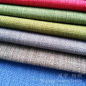 Cationic Linen 100% Polyester Imitation Cloth for Sofa pictures & photos