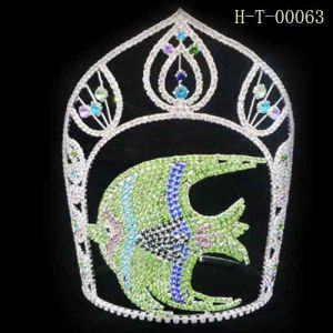 china hair jewelry wholesale pageant crown tall tiara holiday crown