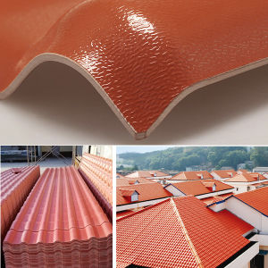 Sun Proof Spanish PVC Roof Tile for Villa pictures & photos