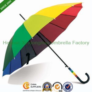 16 Ribs Rainbow Straight Umbrella (SU-1623BR) pictures & photos
