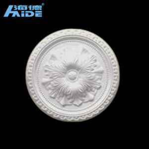 Anti-Cracking Decorative Size White PU Ceiling Medallion pictures & photos