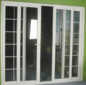 Hot Sale Water Tight/Sound Proof PVC Sliding Door With Grill Design For  Residential House