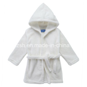 100% Polyester Coral Fleece Children Bathrobe