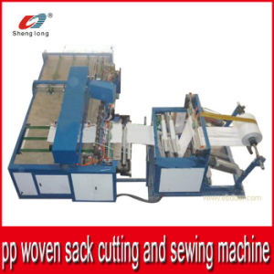 Automatic Plastic PP Woven Sack Cutting and Sewing Machine pictures & photos