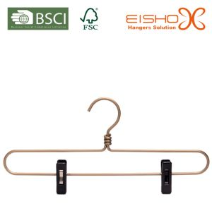Gold Color Wire Hanger for Trousers (PE-802) pictures & photos