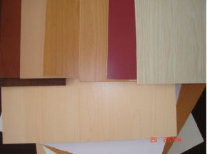 Cheap Wood Grain Melamine Faced MDF pictures & photos