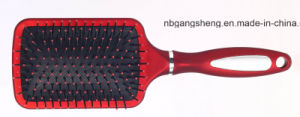 Hot Sale Rubber Painting Paddle Hair Brush with Cushion pictures & photos