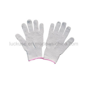 7 Gauge Bleach Color Working Cotton Glove (JF-CT031)