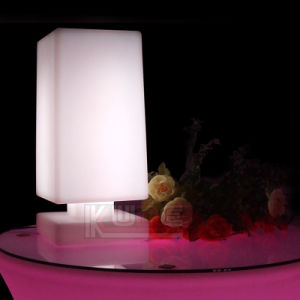 Square Lighting Table Lamp Color Change Rechargeable Lamp pictures & photos