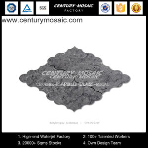 Century Babylon Gray Traditional Chinese Arabesque Design Mosaic Tiles