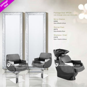 Styling Chair, Shampoo Chair, Salon Mirror (Package Deal NP226)