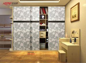 Quality Morden Design PVC Shutter Series Wardrobe Sliding Door (yg 0)