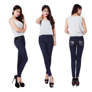 9227bbf2a4042 China Woman Shaped Slim Beautiful Flower Pants Girls Print Jeans Imitated  Leggings - China Pants, Denim Leggings
