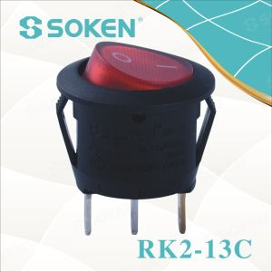 Soken Rk2-13c 1X1n Round on off Rocker Switch pictures & photos