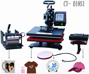 CE-Approval Combo Multipurpose Heat Press Machine for Tranfer Printing T-Shirt,Hat,Mug,Plate pictures & photos