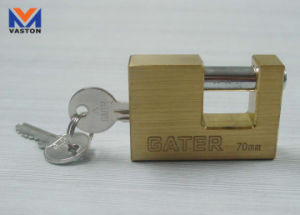 Brass Padlock in Rectangular Shape pictures & photos