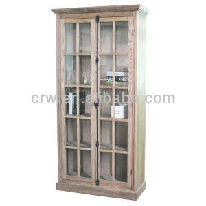 Oak Glass Furniture Antique Bookcase with Doors pictures & photos