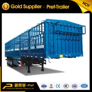 2 Axles Livestock Transport Fence Semi-Trailer for Sale
