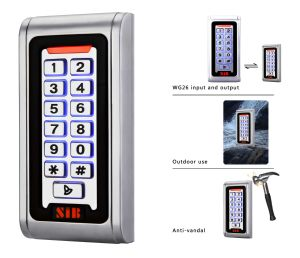 Standalone Metal Keypad Access Control RFID Reader Device (S600MF-W)