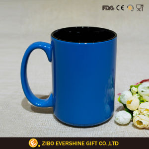 480ml Blue Coffee Mug With Black Color Insert