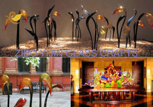 Hot Selling Villa Garden Hotel Interior Hall Lobby Hallway Villa Living Room Murano Hand Blownglass Swan Head Modern Art Sculpture