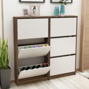 China Shoe Display Cabinet Wood Modern Shoe Rack For Living Room