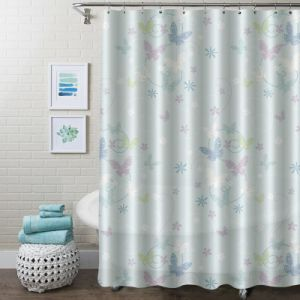 Customized Printed Vinyl PVC Shower Curtains With Anti Fungal Bacterial