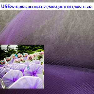 China 100 Polyester Dyed Tulle Wedding Decorative Cloth