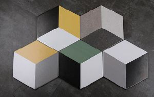Hexagon Tiles Ceramic Rhombus Color Modern Design