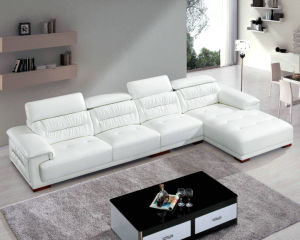 Factory Wholesale Price L Shape Modern Leather Sectional Sofa (8019)