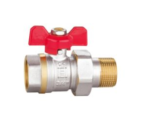 Nickel Plated Finish Ball Valve with Tailpiece/Water Valve (RB-HMF12)