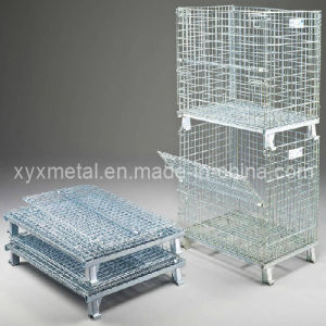 Warehouse Storage Folding Wire Mesh Stillage Cage pictures & photos