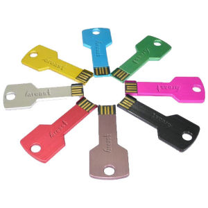 Promotional Gift 64GB Metal Key USB Flash Drive pictures & photos
