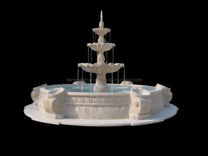 3 Tier Layer Outdoor Stone Tiered Marble Stone Water Garden Fountain (XF400)