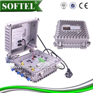 Hfc Network Outdoor Using 4 Way Output Optical Node Receiver pictures & photos
