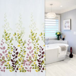 China Supply 100%Polyester Print Shower Curtain pictures & photos
