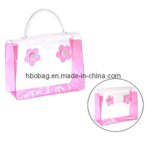 Clear PVC Cosmetic Handle Bag (HBO20061)