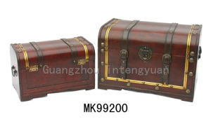 Set Of Two Wooden Box (MK900200)