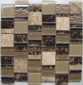 New Pattern Glass Mosaic Wall Tile, Crystal Glass Mosaic (HGM372) pictures & photos