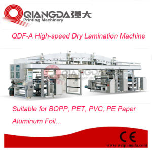Qdf-a Series High-Speed PVC Film Dry Lamination Machine pictures & photos