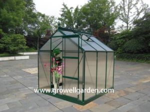 2.1m*2.2m Polycarbonate and Alu. Frame Hobby Greenhouse (HB707) pictures & photos
