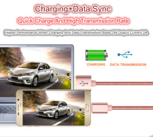 New Metal 2A USB Data Charge Stainless Steel Cable for iPhone 5 5s 6 6s Plus Ios iPad pictures & photos
