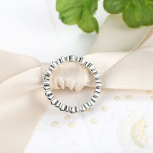 New Arrival 925 Sterling Silver Rings for Women Floral Elegance Stackable Jewelry Ring pictures & photos