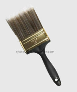 Different Sizes Quality Polyester Synthetic Filament Paint Brush Set with Plastic Handle