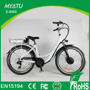 Lady Cross City Electric Bicycle with 700c Aluminum Alloy Frame pictures & photos
