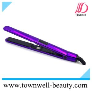 Electroplating Purple Long Plates Slim Mch Fast Heat up Ceramic Hair Straightener Wholesale