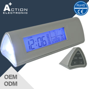 Special Design Digital Travel Alarm Clock with LED Flashlight Torch pictures & photos